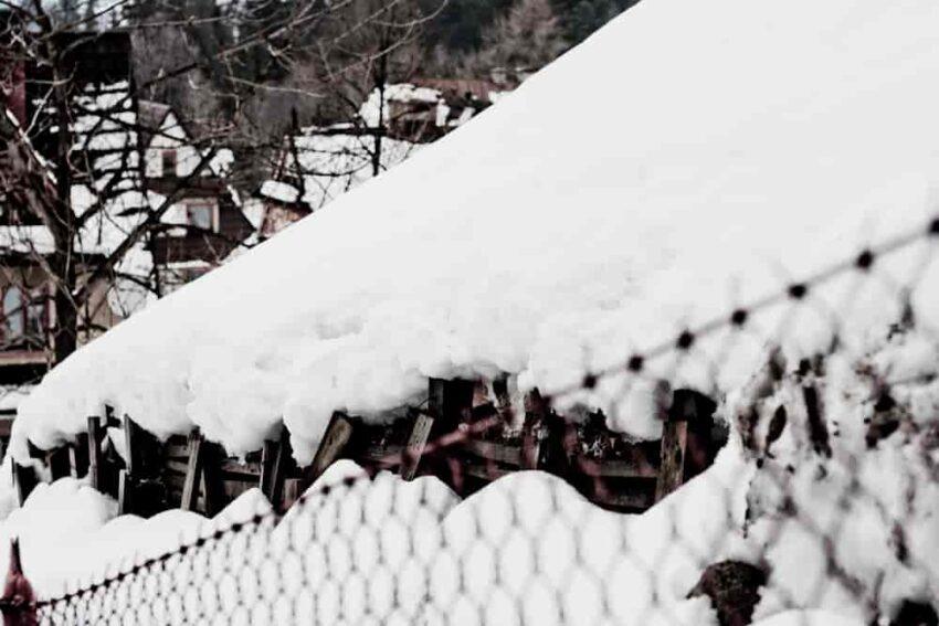 Śnieg na płocie