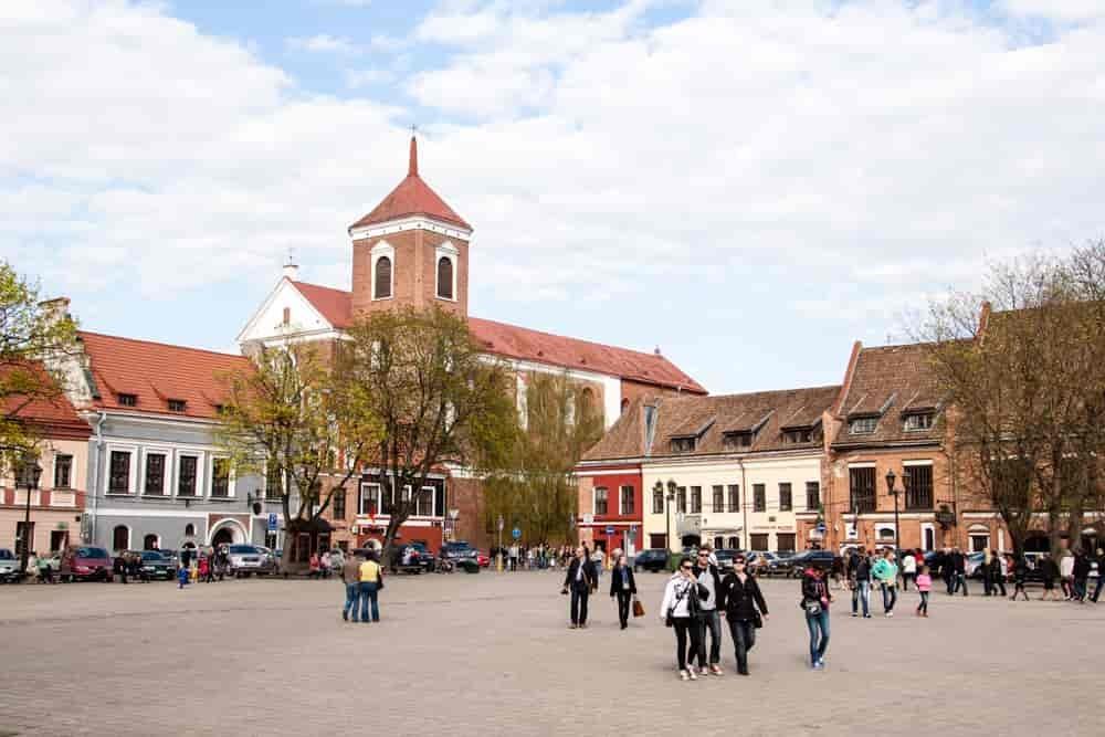 Kowno - plac ratuszowy