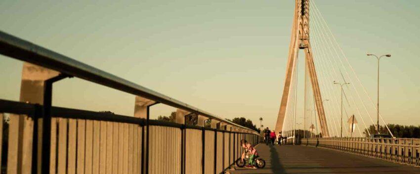 Spacer nad Wisłą - most